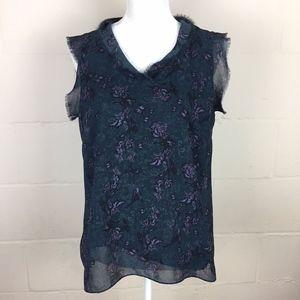 cabi evermore floral fringe 3065 blouse Medium